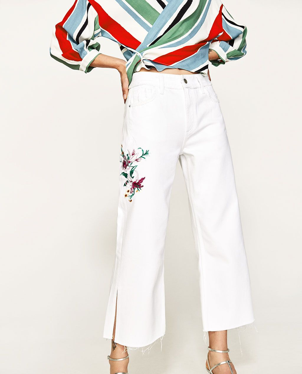2c239f67e0 EMBROIDERED FLORAL JEANS-View All-JEANS-WOMAN | ZARA United States ...