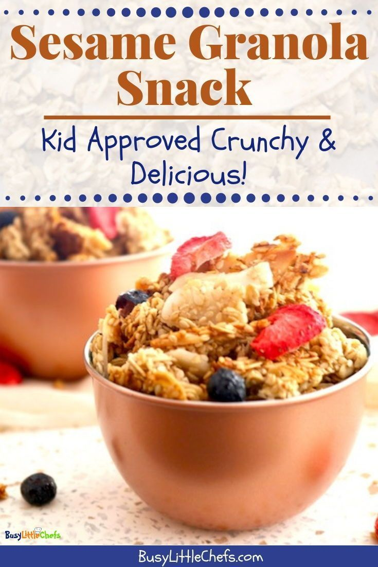 Crunchy granola snack healthy anytime snack for kids