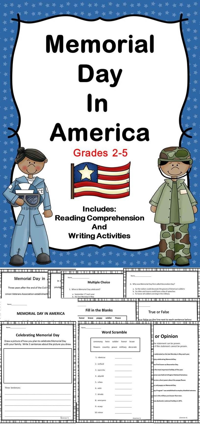 Memorial Day Elementary Lesson Plans Activities Special Education Classroom Memorial Day [ 1728 x 816 Pixel ]