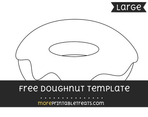 Free Doughnut Template - Large Shapes and Templates Printables - donut template