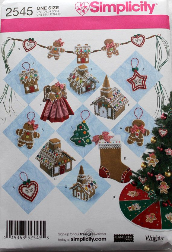 Simplicity Pattern 2545 Christmas By Embellishbyandrea Christmas