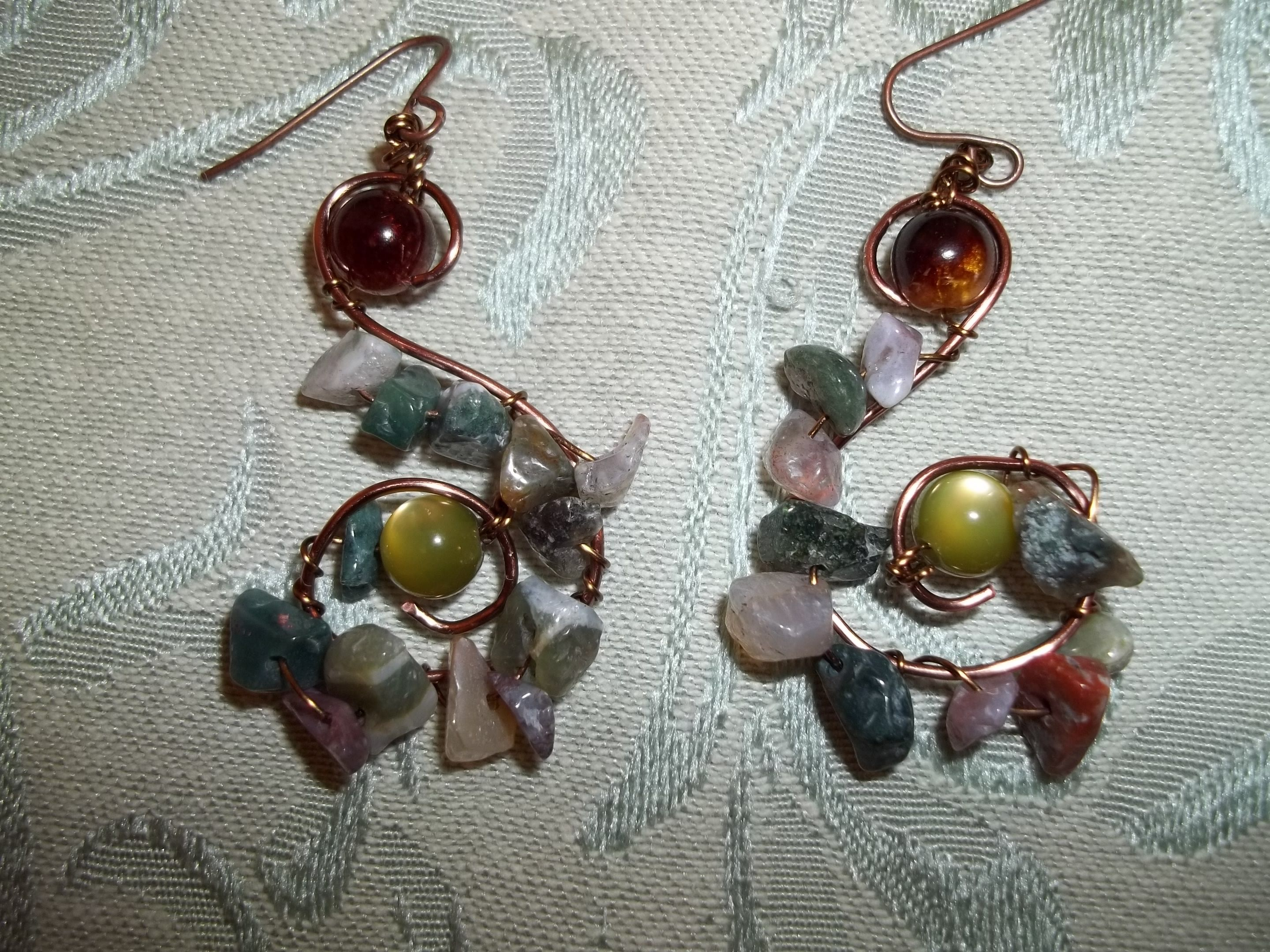 Tumbled rocks and copper just twisted jewelryuby julieujewelry and