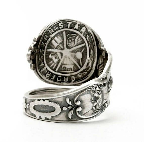 Order Of The Eastern Star Spoon Ring This Pattern Features All The