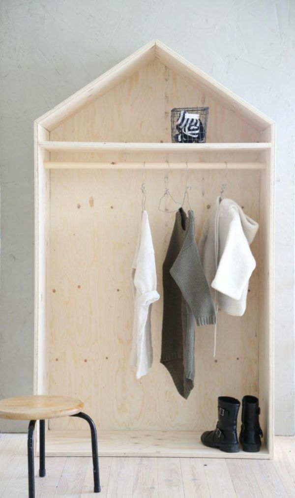Vintage Ankleidezimmer selber bauen Bastelideen Anleitung und Bilder KinderzimmerBegehbarer KleiderschrankSelber