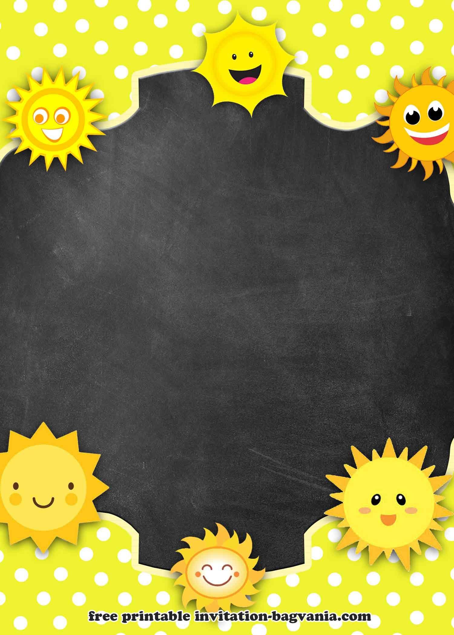FREE Printable My Little Sunshine Invitation Templates  Printable