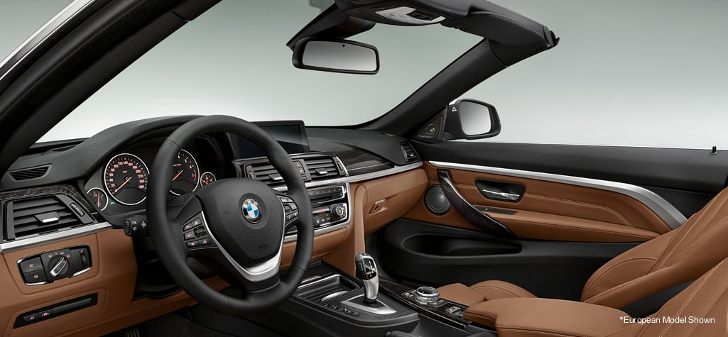 The 4 Series Convertible Interior With Dakota Leather In Saddle Brown See More Bmws At Www Carsquare Com Auto Cars Eurocar Germanau Bmw 4 Series Bmw 4 Bmw
