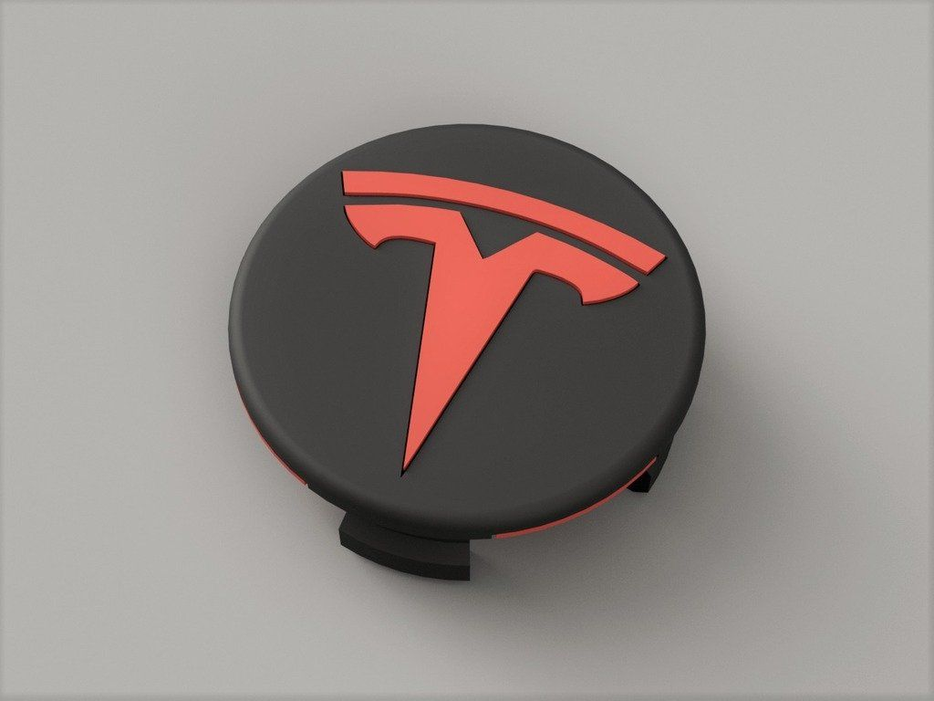 Tesla Model 3 Wheel Center Cap by 3DMath - Thingiverse ...