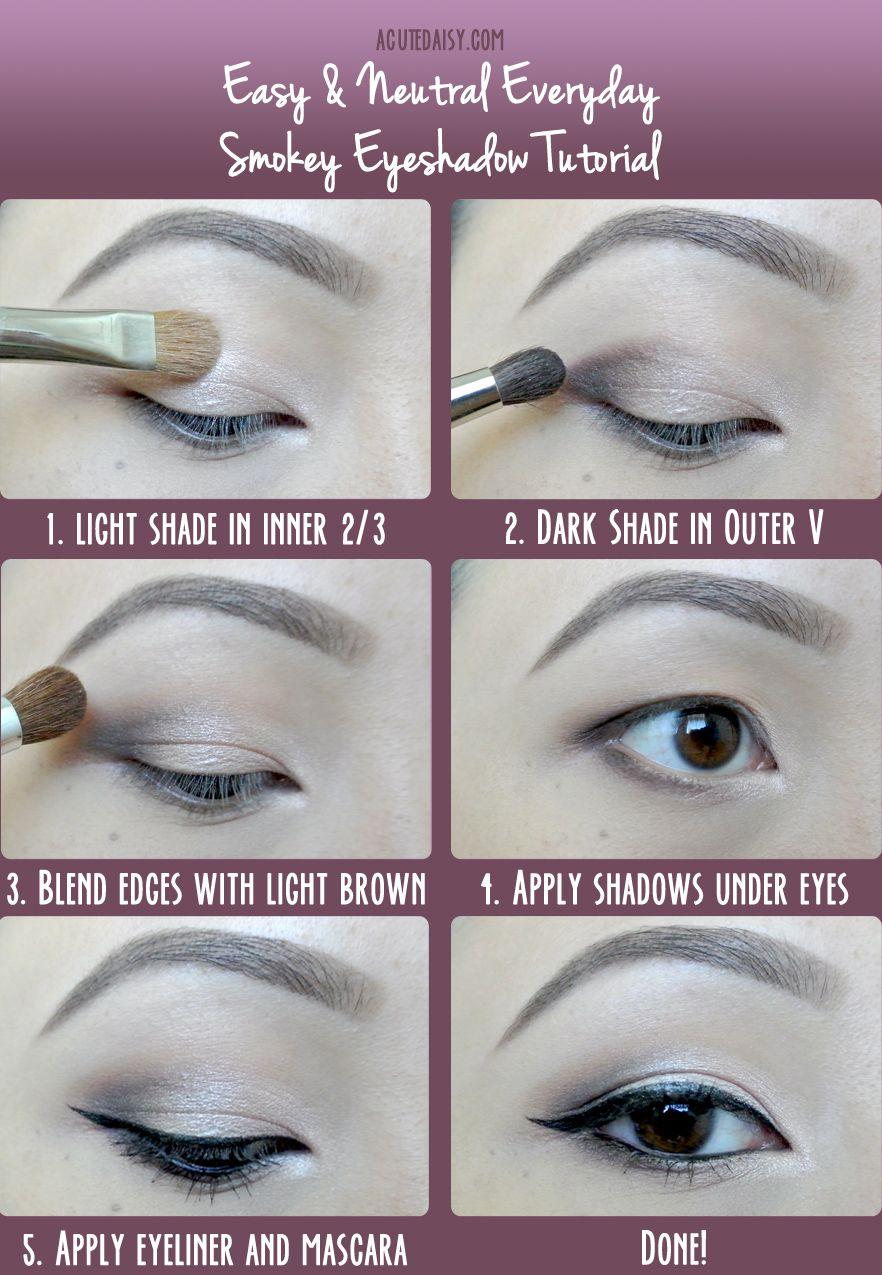 Easy And Neutral Everyday Smokey Eyeshadow Tutorial