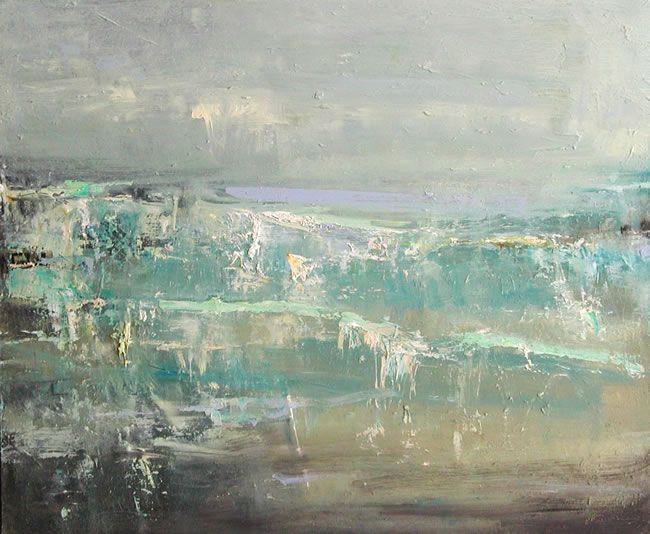 Hannah Woodman Low Light Breaking, Gwithian 50cm x 60cm Oil