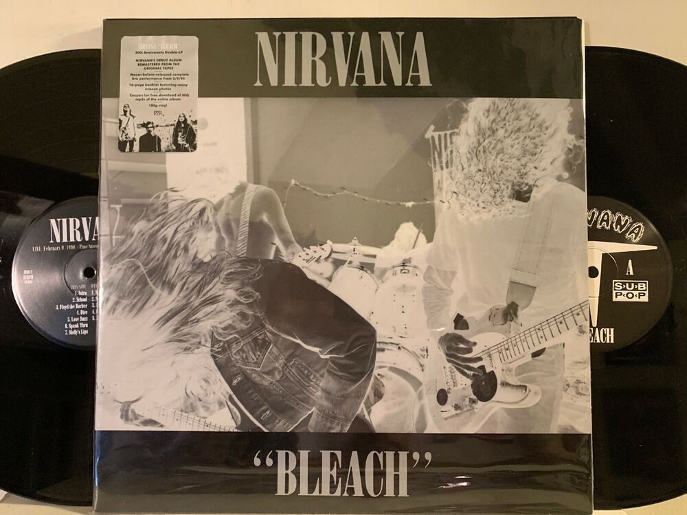Nirvana Bleach Lp 2009 Sub Pop Sp 834 20th Anniversary Edition Le Re Nm Grungepunknewwave 20th Anniversary New Vinyl Records Nirvana Mtv Unplugged
