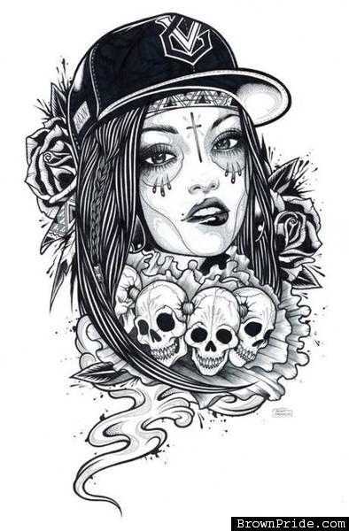 sugar skull pin up girl tattoo designs google search tattoo ideas pinterest girl tattoo. Black Bedroom Furniture Sets. Home Design Ideas