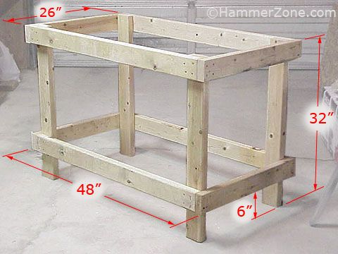 Surprising Simple 2X4 And Osb Construction Makes This Work Bench An Caraccident5 Cool Chair Designs And Ideas Caraccident5Info