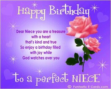 Niece Birthday Cards Free Happy Ecard