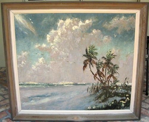 Details about VINTAGE HAROLD NEWTON HIGHWAYMEN PAINTING ON
