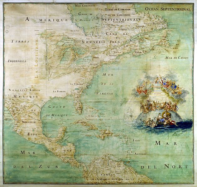 Terres inconnues the americas in 1681 according to the french terres inconnues the americas in 1681 according to the french this map gumiabroncs Gallery