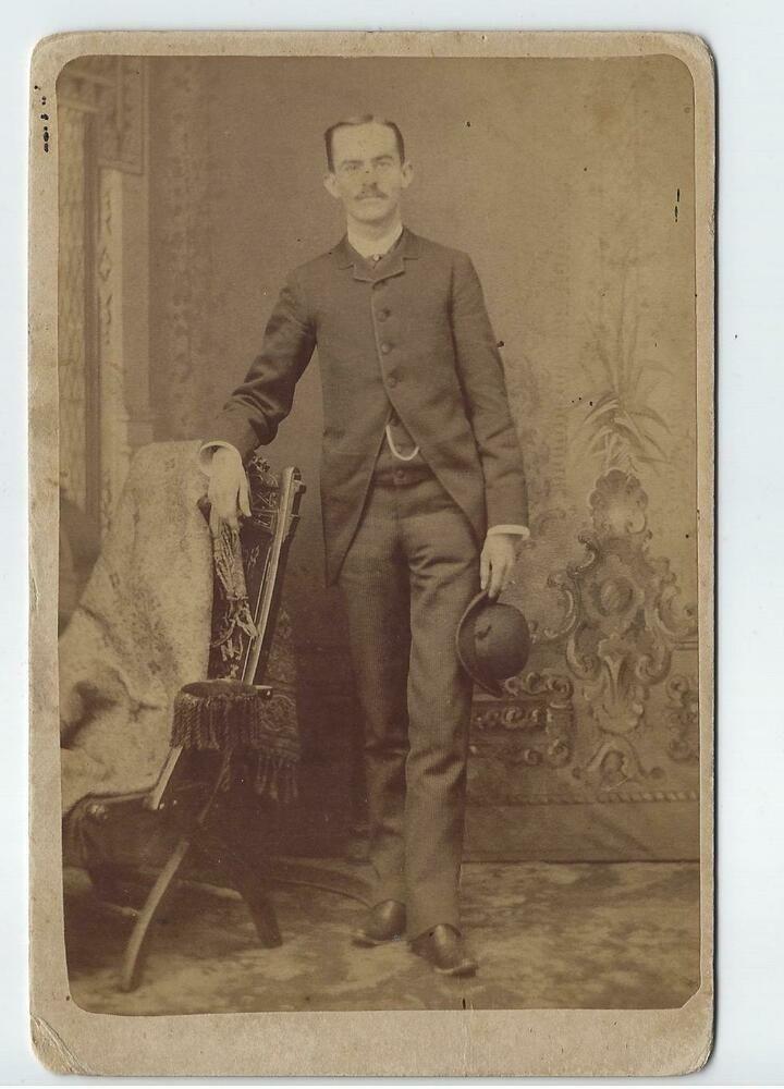 1884 Photo William Nicholas Vaughn Danville Ky Son Of Fielding