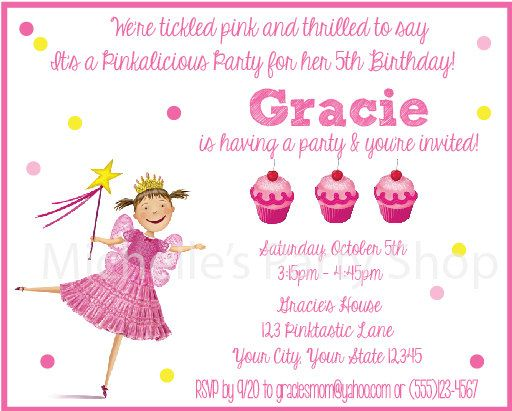 1000 images about Pinkalicious birthday – Pinkalicious Birthday Invitations