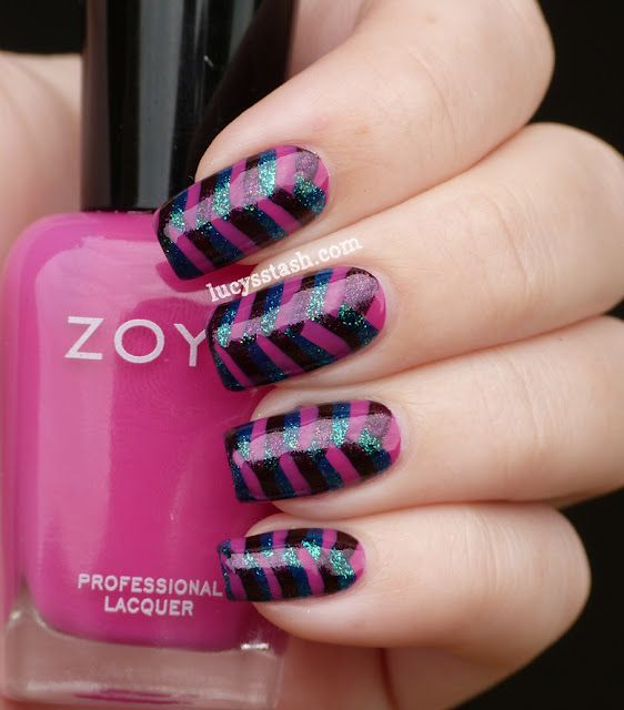 Tight Fishtail Braid manicure with Zoya Reagan, Valerie and Charla