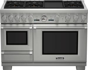 48 Inch Pro Grand Commercial Depth Dual Fuel Steam Range Thermador Thermador Ranges Dual Fuel Ranges