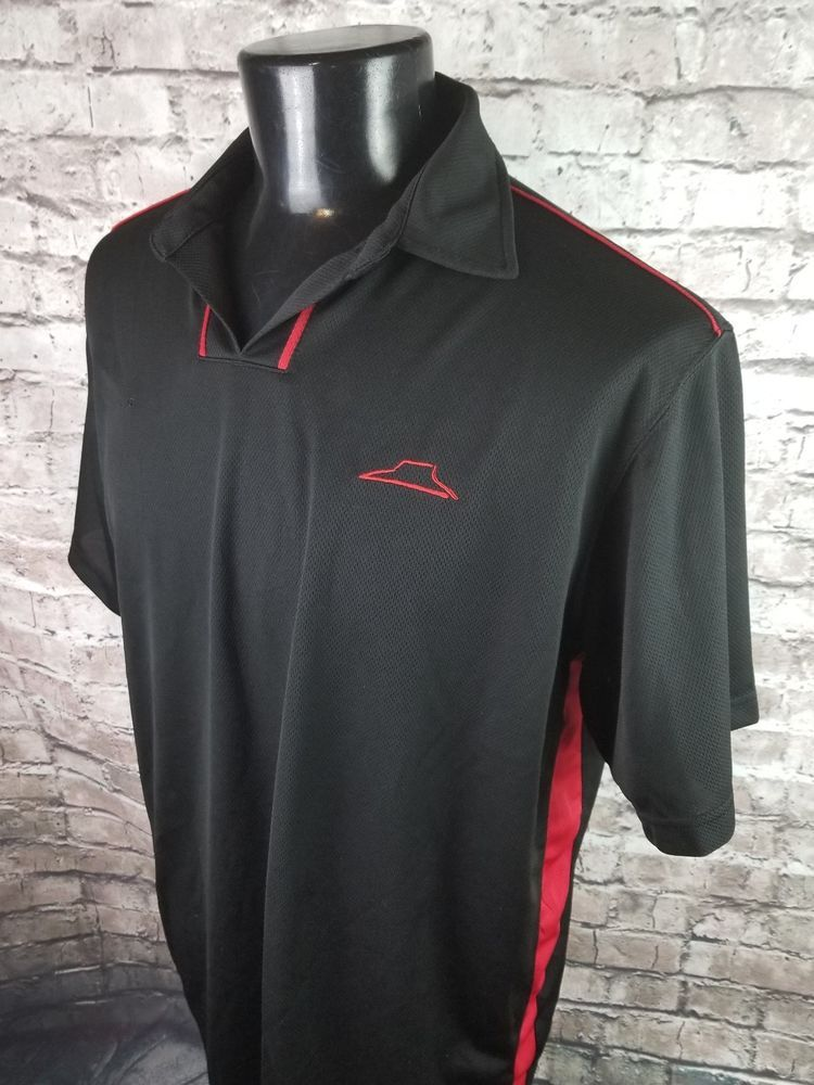 Pizza Hut Employee Uniform Polo Shirt Black Red