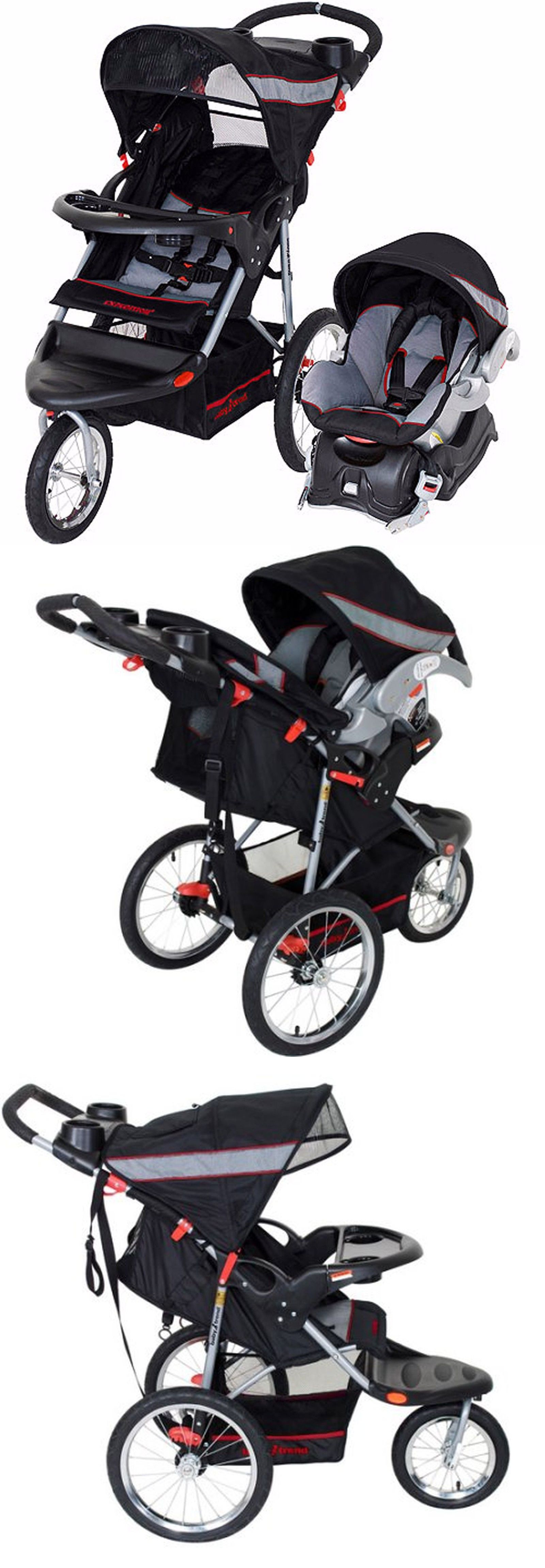 baby and kid stuff Baby Trend Expedition Jogger Travel System Millennium 3In1 Stroller Car Seat