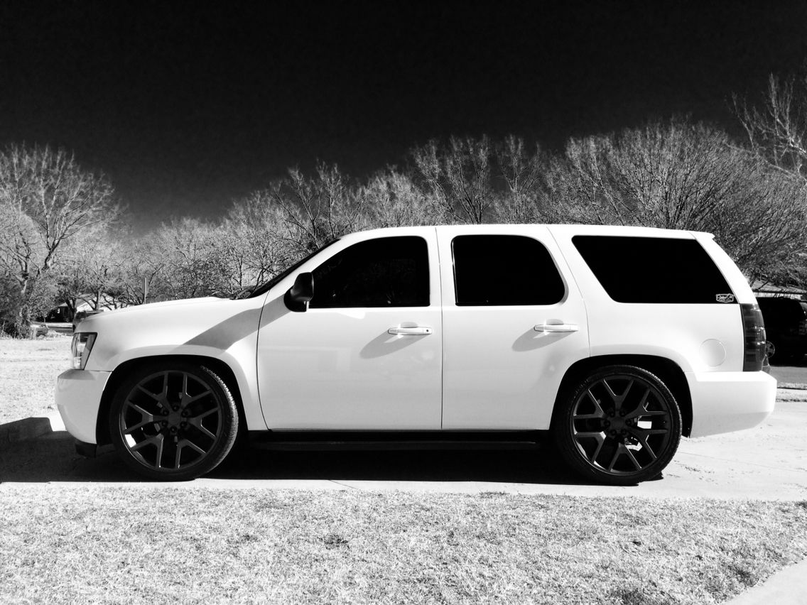 Lowered 2008 Hotrod Tahoe 24 Replicawheels Custom Chevy Trucks