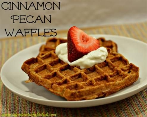 Cinnamon Pecan Waffles - The Kitchen Table - The Eat-Clean Diet®