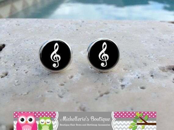 Treble Clef Earrings Music Note Jewelry by MichelleriesBoutique