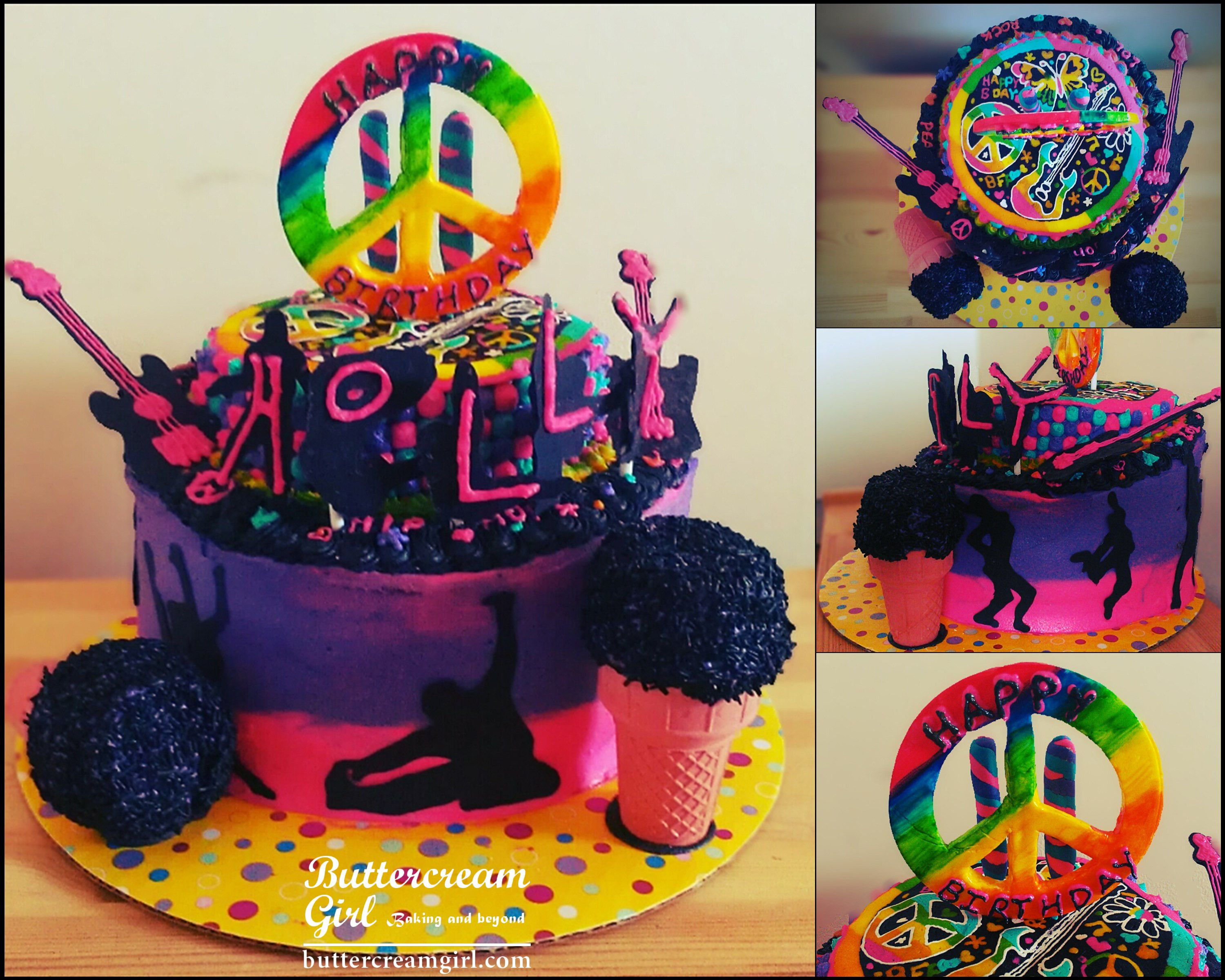 Colorful hip hop birthday cake kids birthdays Pinterest