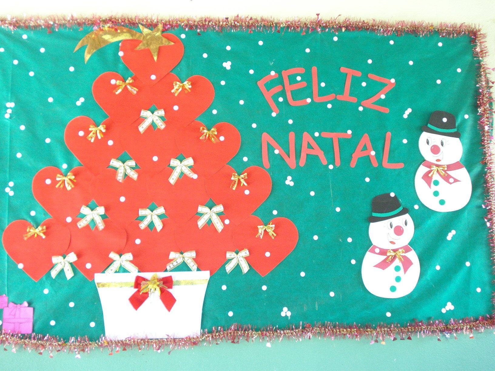 Murais De Natal Para Escola Cartazes Para O Natal Em Eva E