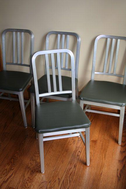 Aluminum Goodform Quot Navy Chair Quot Restoration Artifact Bag