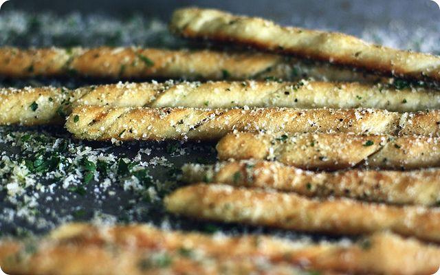rosmary, thyme garlic breadsticks (pizza dough)