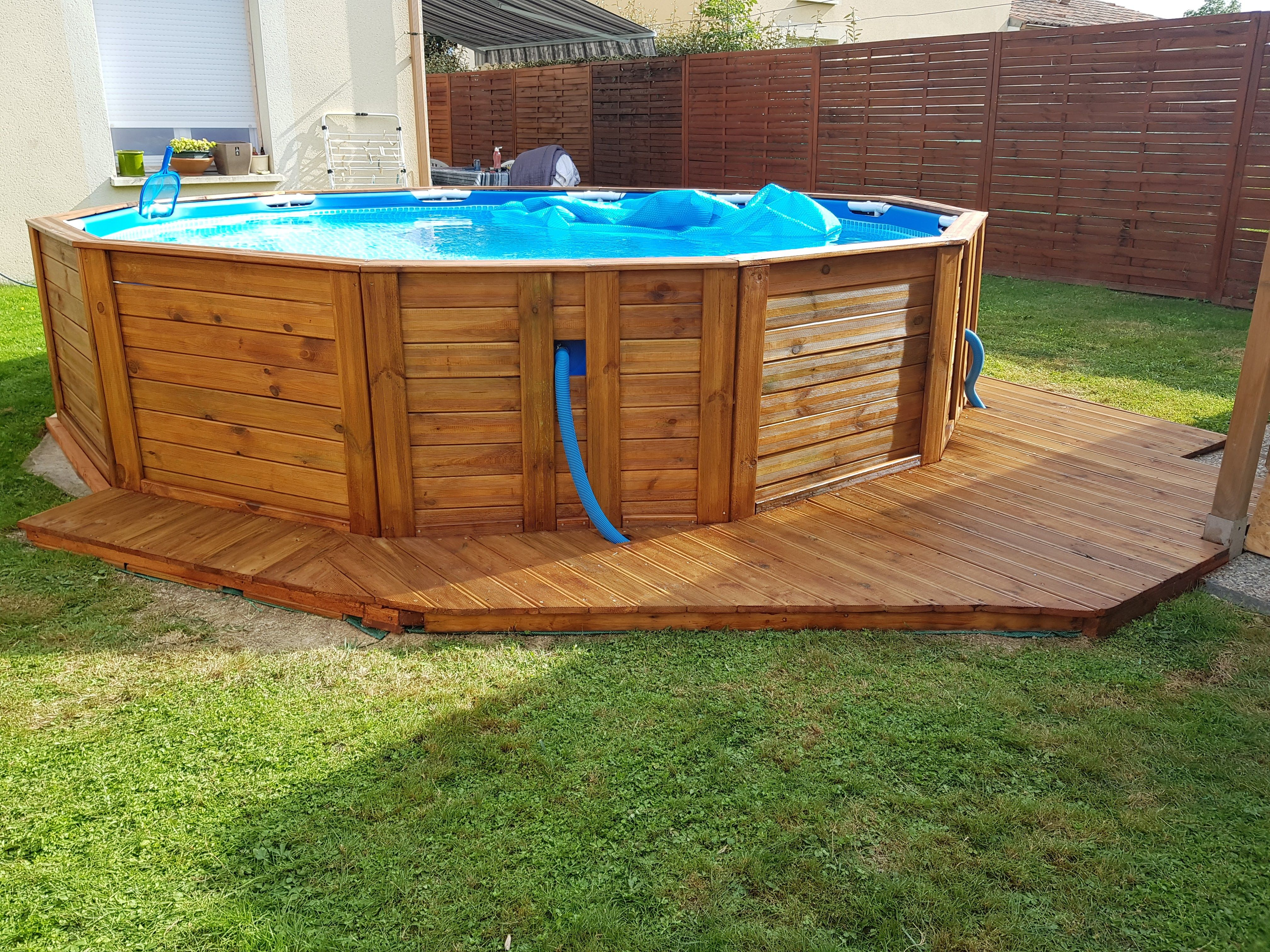Piscine Tubulaire Bois Construction Habillage Piscine Bois Picsine Outdoor Decor