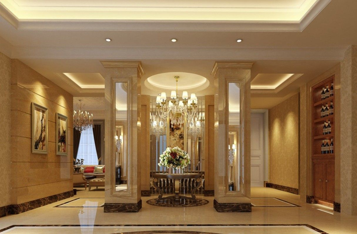 Luxury entrance dream homes pinterest entrance foyer for Luxury house plans with photos of interior