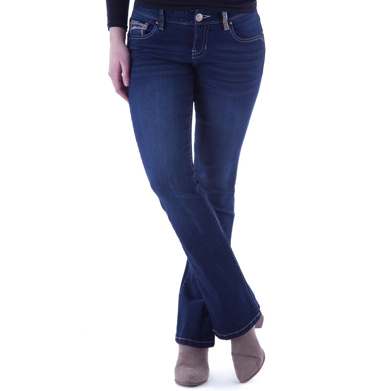 fe654b8e39976 Juniors  Amethyst Curvy Slim Bootcut Jeans  Curvy