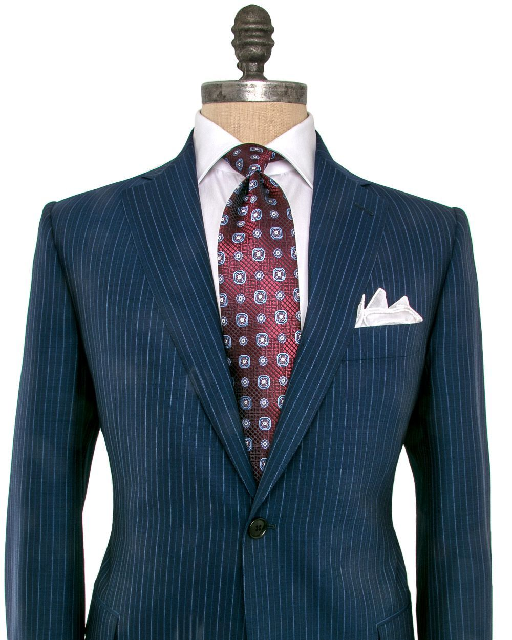 08e919a3e11bf3 Image of Belvest Navy Pinstripe Suit #Menssuits | Clothings | Navy ...