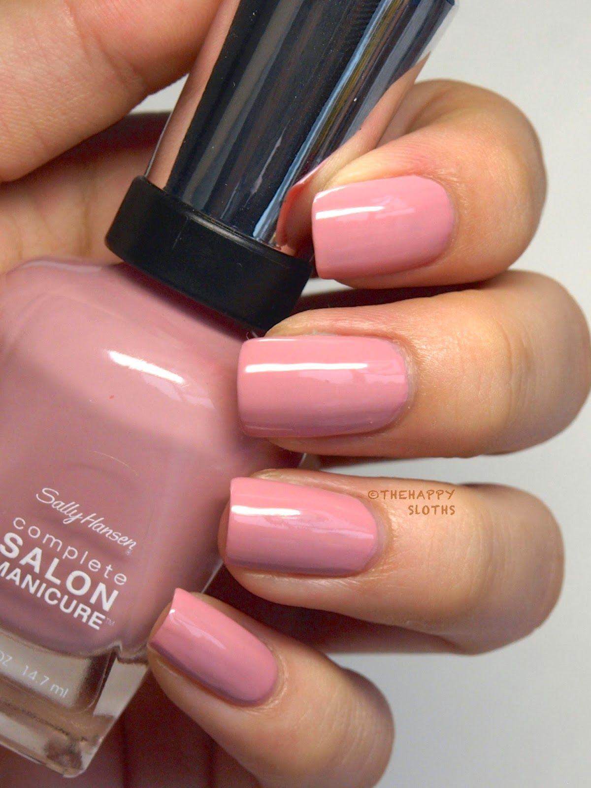 "the happy sloths: sally hansen complete salon manicure ""pastels on"