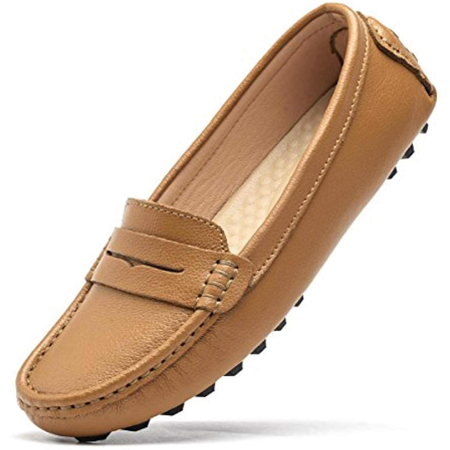 ef329ec735b Women s Classic Genuine Leather Penny Loafers Driving Mocs Casual Slip On  Fashion Comfort Flats     Learn more by visiting the image link.