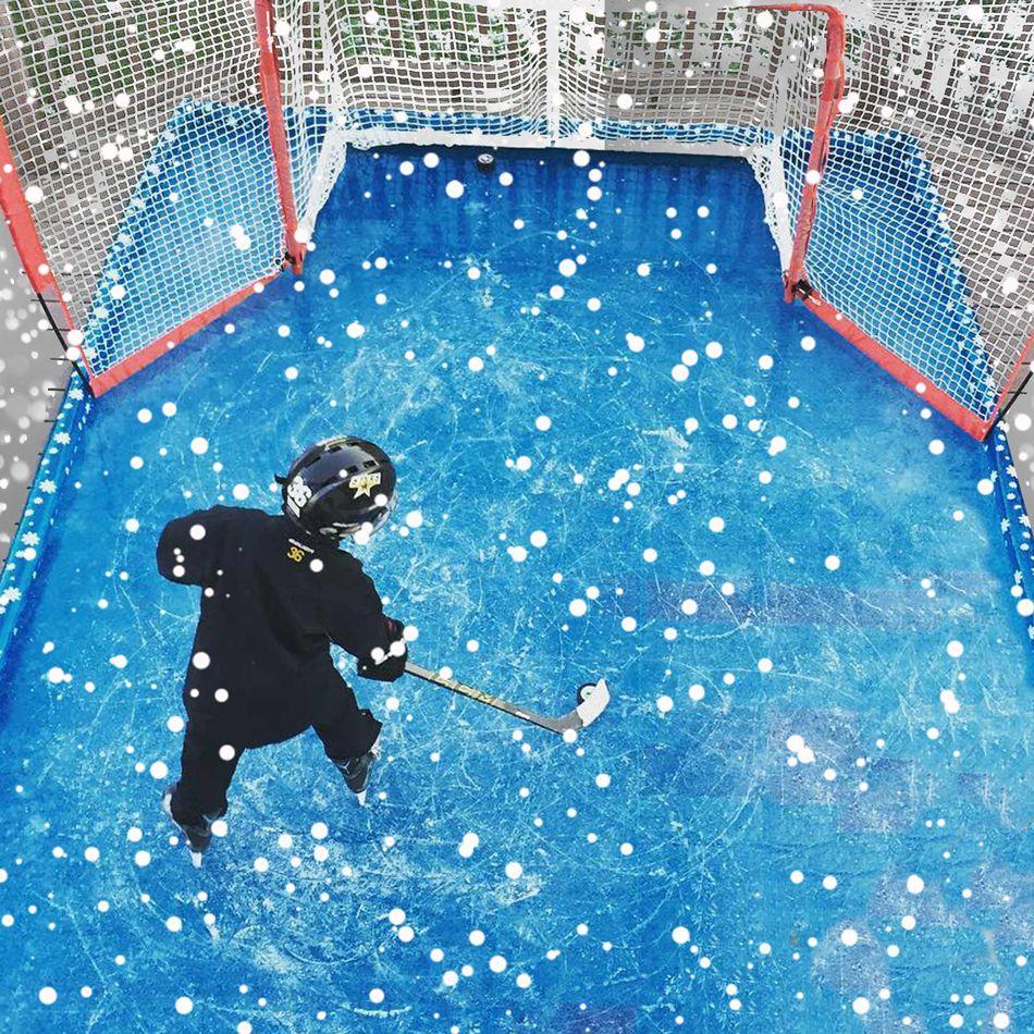 15' x 24' Inflatable Backyard Ice Rink | Backyard ice rink ...