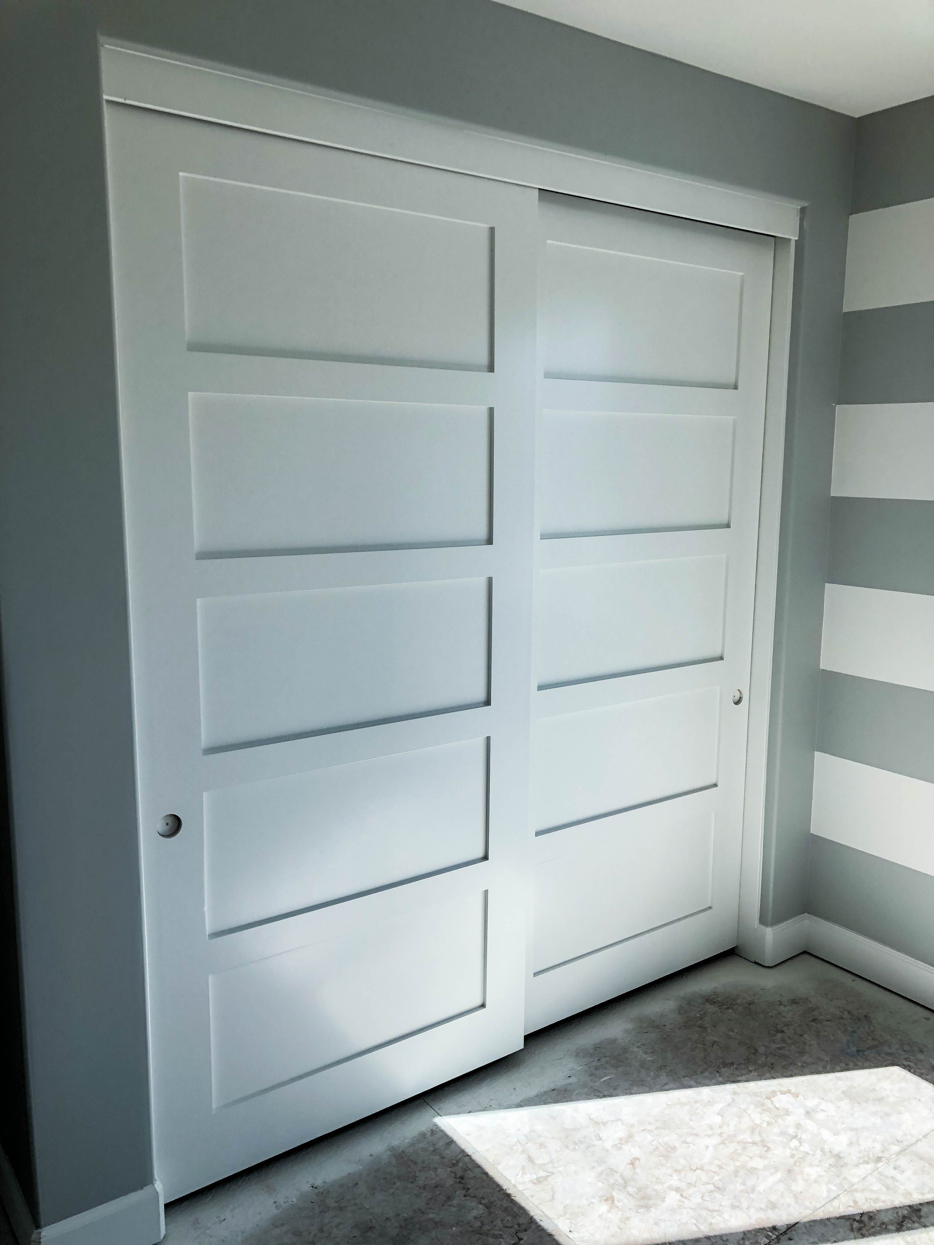 Take A Look At These Brand New Closet Doors That We Just Installed In Huntington Beach California On Sliding Closet Doors Wood Closet Doors Closet Doors