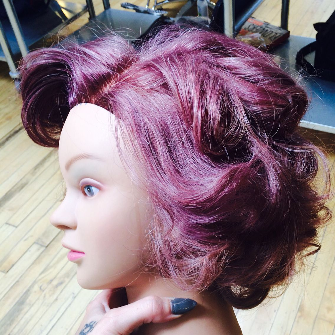 Dusty rose color by ariel moon purple hair lavender hair rose pastel