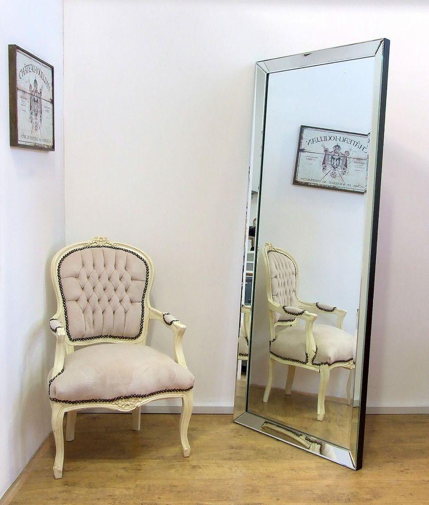 Luna X Large Modern Frameless Wall Leaner Full Length Floor Mirror