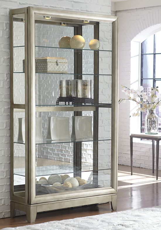 Living Rooms, Prescott Display Cabinet, Living Rooms | Havertys ...