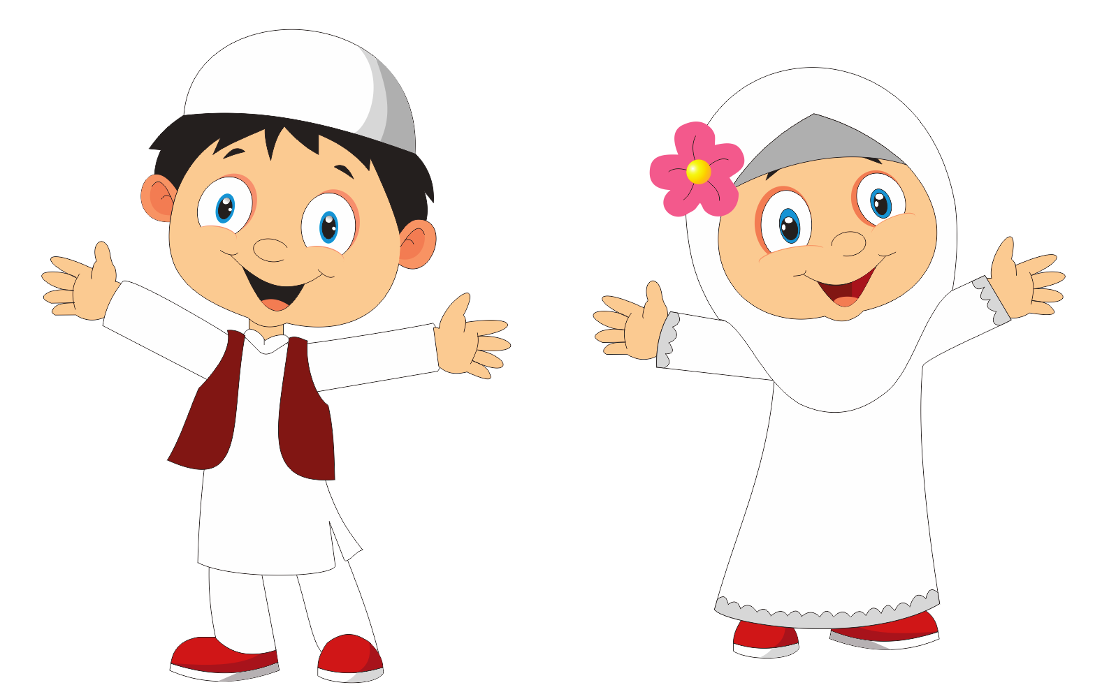 20 Gambar Kartun Anak Muslim Hd Gambar Kartun In 2020 Islamic Cartoon Muslim Kids Cartoon Kids