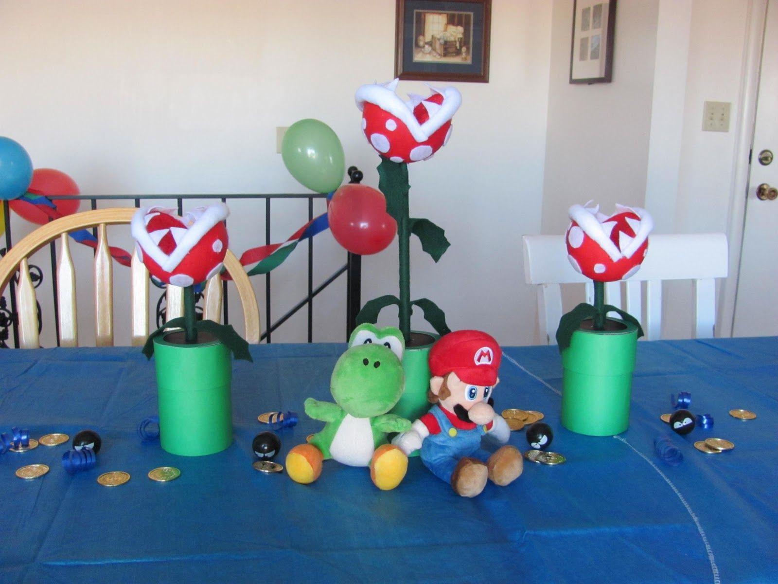 super mario birthday party centerpieces