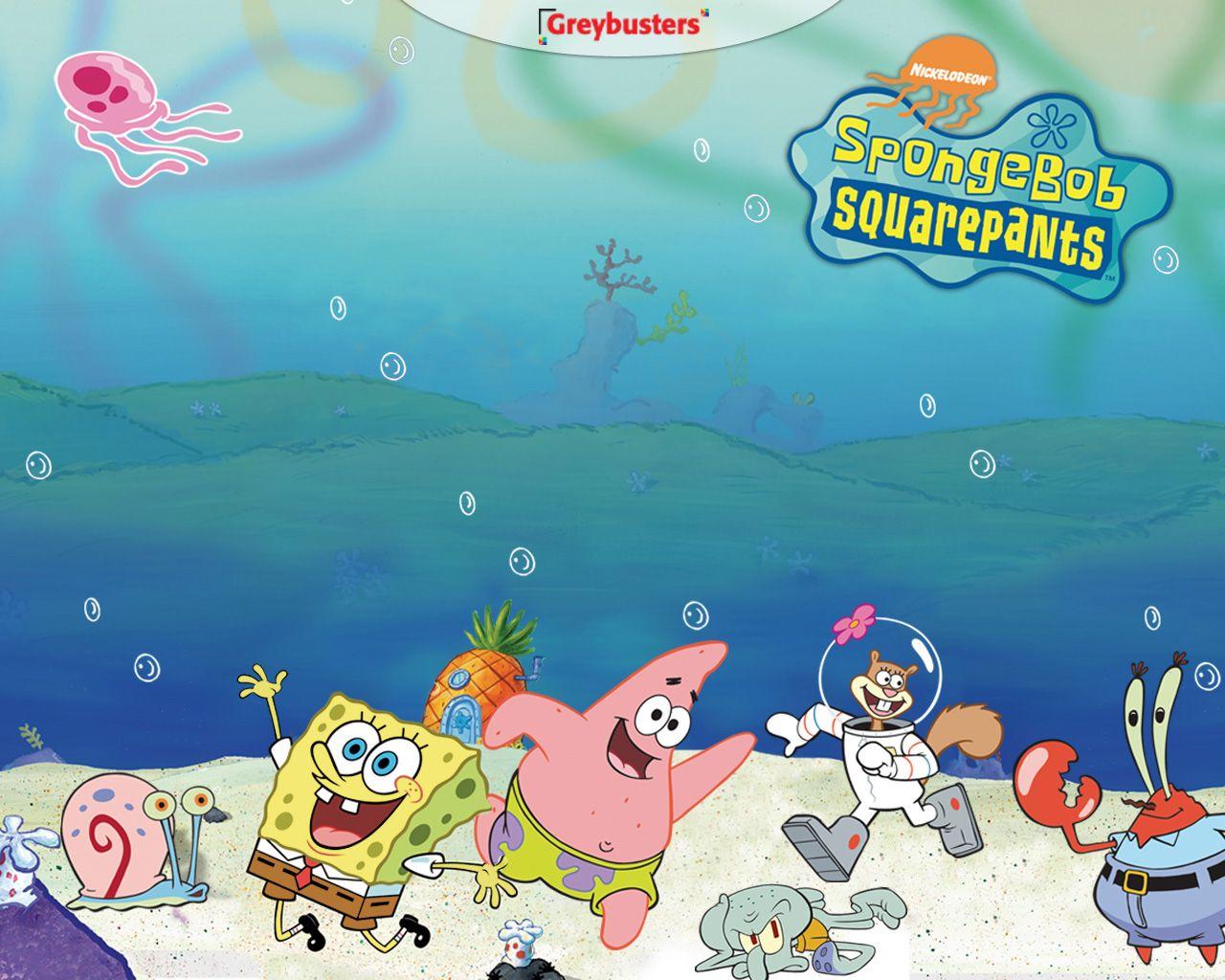 spongebob squarepants wallpaper with