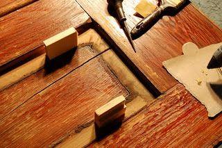 How To Repair A Split In A Wood Door Panel Old Wood Doors Wood Doors Panel Doors