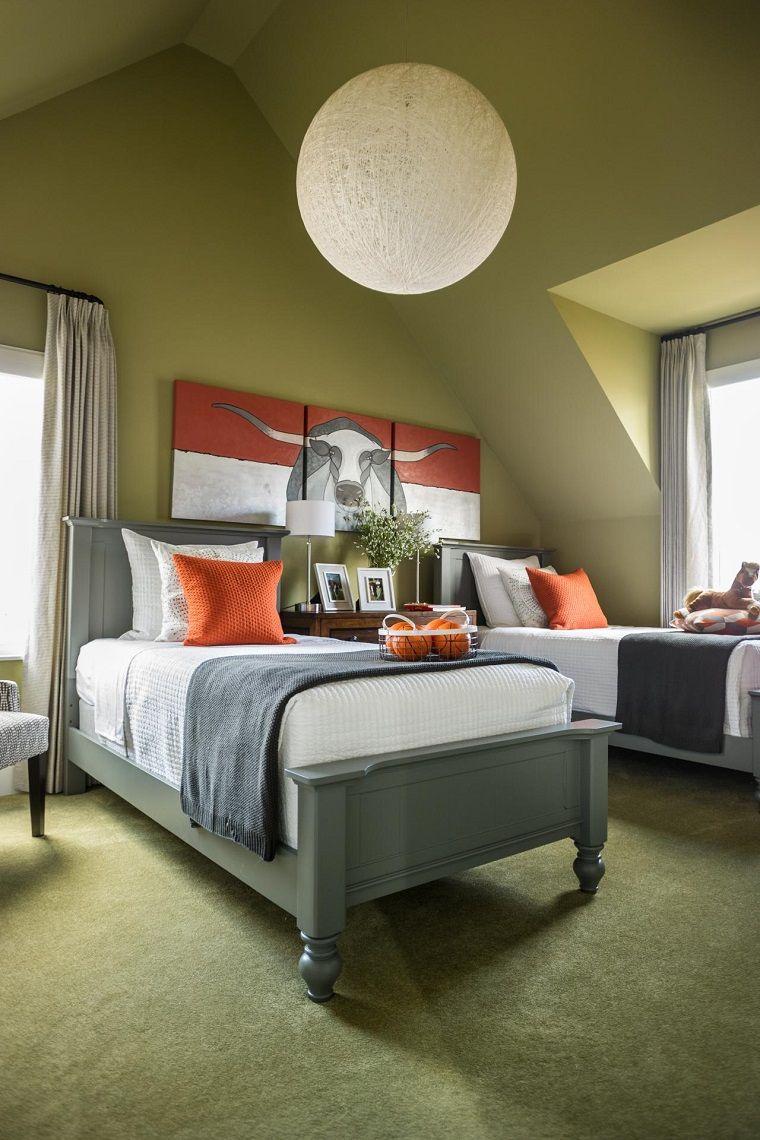 Lamparas de techo ideas modernas habitacion juvenil bola - Lamparas modernas para dormitorio ...