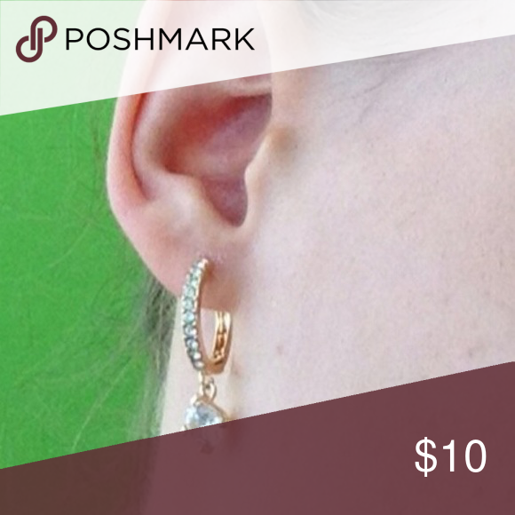 Gold and crystals earrings Beautiful Jewelry Earrings