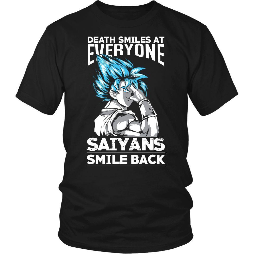 cd8b58e5 Super Saiyan - SAIYAN SMILE BACK - Men Short Sleeve T Shirt - TL01102SS